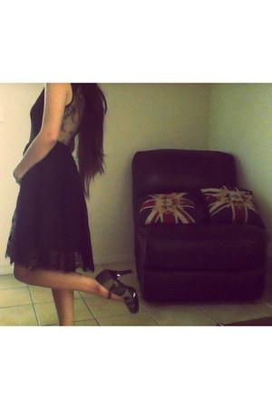 black Dotti dress - dark green black with camo Funtasma heels