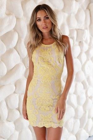 light yellow Xenia Boutique dress