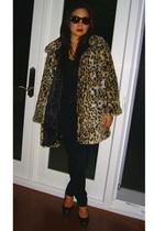 Betsey Johnson coat - C & C top - J Brand jeans - Nina Ricci shoes