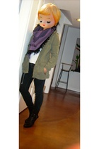 Urban Renewal scarf - H&M jacket - J Brand jeans - Nine West shoes