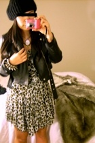 leather, leopard, spikes