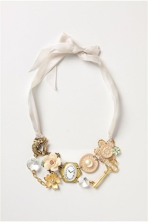 white Anthropologie necklace