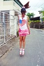 Cream-topshop-socks-ruby-red-vintage-sunglasses-hot-pink-prima-donna-clogs