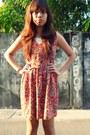 Red-cotton-geneveive-dress-eggshell-melissa-sandals