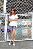 black flatforms rubi shoes - navy Zara shorts - dark brown Topshop sunglasses