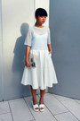 Dazzling-couture-bag-white-zara-skirt-white-bralet-topshop-bra