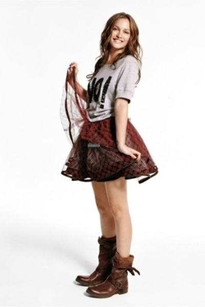shirt - skirt - boots