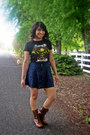 Soda-boots-band-tee-avenged-sevendfold-shirt-kirra-skirt