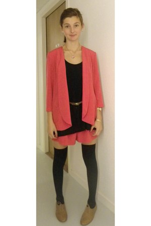 hot pink asos blazer - hot pink asos shorts