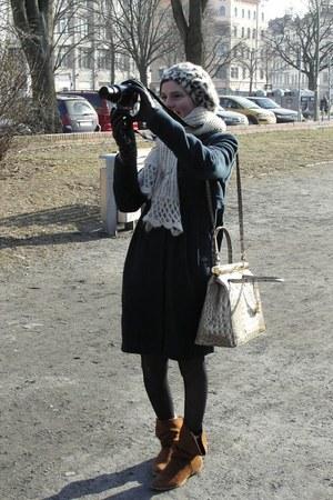 boots - Tara Jarmon coat - H&M hat - fake croco bag