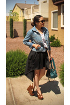 high-low Lucy Love skirt - denim Roxy jacket
