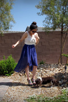 charcoal gray gladiator Charlotte Russe wedges - black thrifted sunglasses