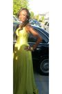 Green-jovani-dress-gold-earrings-gold-accessories