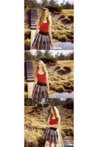 H&M shirt - clockhouse skirt