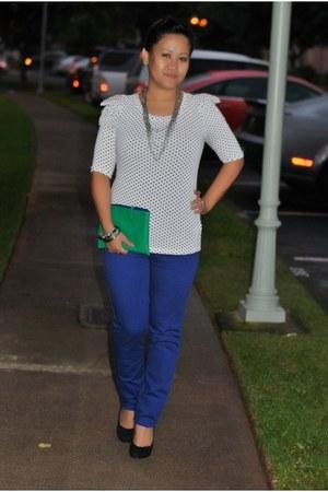 polka dot Forever 21 blouse