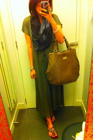 bought from bangkok dress - tie dye scarf asos scarf - Charles and Keith bag - F