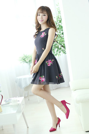 black kissel dress