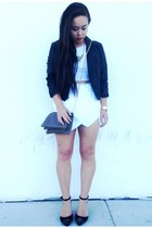 Forever 21 jacket - Urban Outfitters bag - skort Zara skirt