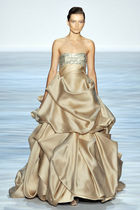 gold Christian Siriano dress