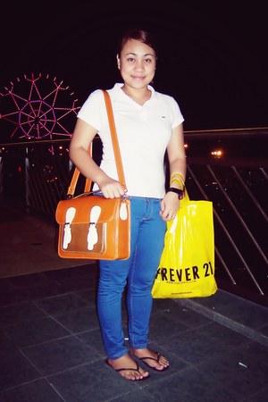 Cole Vintage bag - Terranova jeans - Lacoste blouse