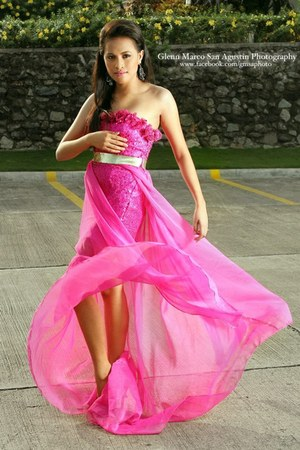 bubble gum Glady Rose Pantua Collection dress
