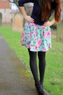 Sky-blue-floral-matalan-dress-navy-h-m-sweater-black-woollen-new-look-tights