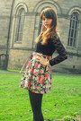 Dark-green-primark-tights-salmon-floral-h-m-skirt-tawny-primark-belt-black
