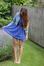 Lace-glamorous-dress-denim-matalan-jacket-topshop-belt-primark-flats