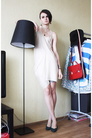 peach acne dress