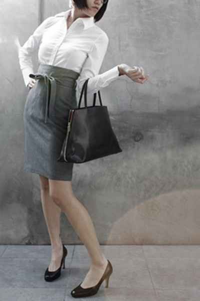Express shirt - Club Monaco skirt - Cole Haan purse - Furla shoes