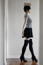 black vintage top - black Pencey dress - black hansel from basel socks - black L