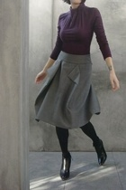 K by Karl Lagerfeld top - vivienne westwood skirt - Spanx tights - Hugo Boss boo
