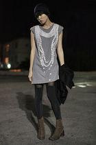 Karen Walker dress - Pencey tights - Margiela boots