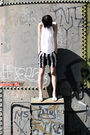 White-t-by-alexander-wang-top-black-alexandre-herchcovitch-shorts-gray-campe