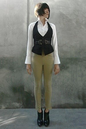Express vest - Express shirt - On Course pants - thakoon belt - Hugo Boss shoes