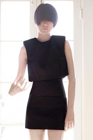 black acne dress