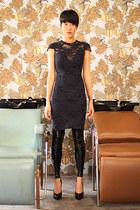 Black Milk leggings - Lagence dress - Premiata pumps