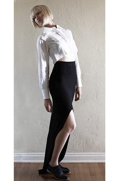 black Jil Sander shoes - black bec & bridge skirt - white asos top
