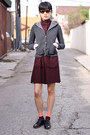 Crimson-opening-ceremony-dress-charcoal-gray-haute-hippie-blazer