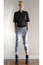 heather gray Ann Sofie Back pants - black Kimberly Ovitz top