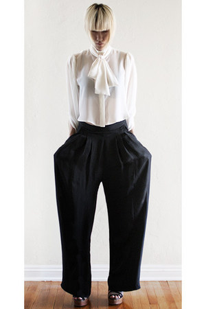 black Carin Wester pants - ivory Carin Wester blouse - tan Marni sandals