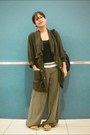 Army-green-dolman-sleeve-forever21-coat-olive-green-bell-thrifted-pants