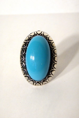 light blue cocktail vintage ring