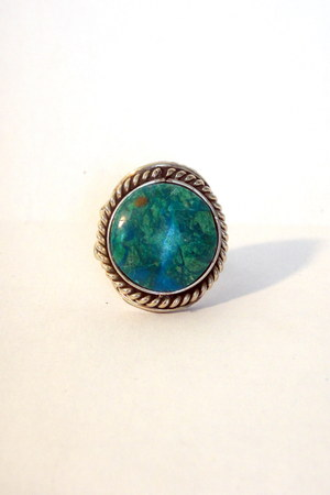 turquoise blue vintage ring