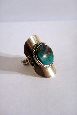faux stone vintage ring