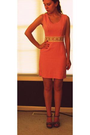 pink vintage dress - silver Jessica Simpson shoes