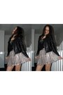 Black-leather-jacket-light-pink-lace-skirt