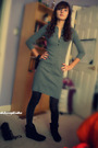 Gray-victorias-secret-dress-black-american-eagle-tights-black-steve-madden-b