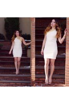 cream French Connection dress