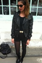 black leather Topshop jacket